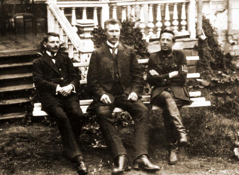 Склад Директорії в другій половині 1919 р. Зліва направо: Андрій Макаренко, Федір Швець, Симон Петлюра