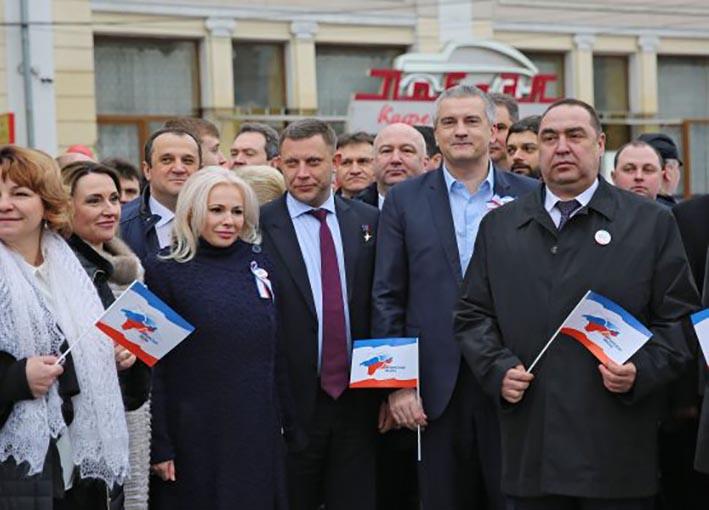 Ватажки ОРДЛО на святкуванні 3-річчя окупації Криму