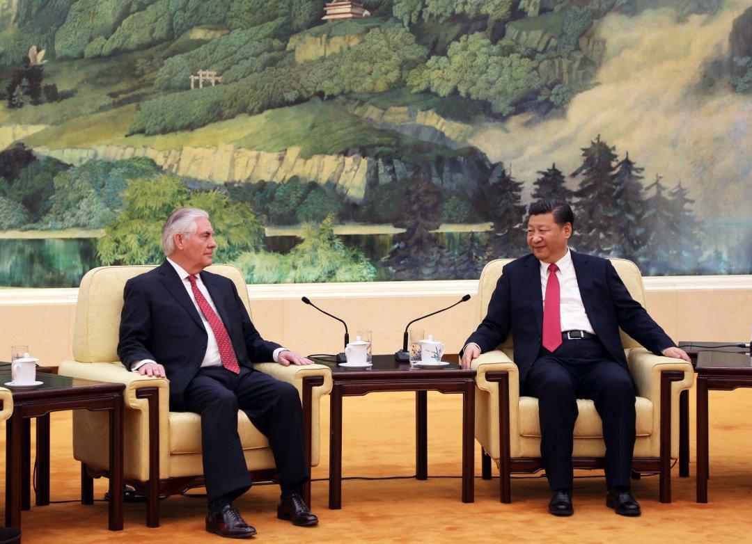 Держсекретар США Рекс Тіллерсон та президент КНР – Сі Цзіньпін