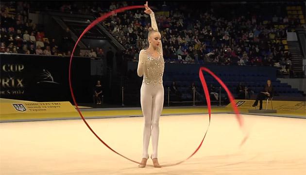 Українська гімнастка Олена Дяченко