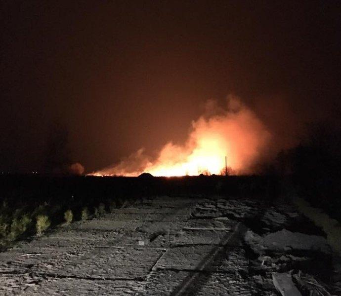 Свидетели докладывают осильном пожаре наокраине украинской столицы