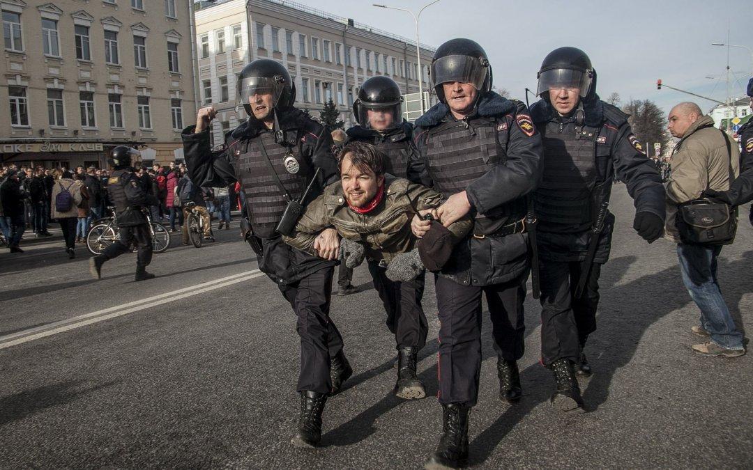 Россия митинг задержание. Фото: novayagazeta.ru