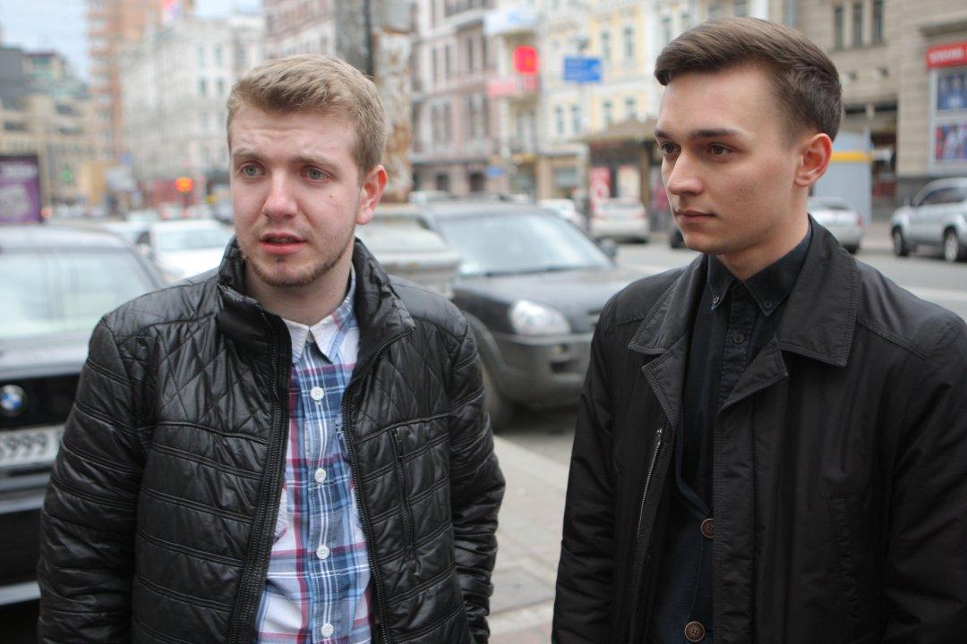 Микола Третяков і Станіслав Тихонько - відраховані студенти філософського факультету КНУ