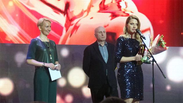 Ольга Харлан під час нагороди / Фото: XSPORT