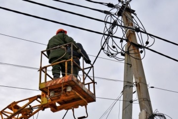 En Ucrania 200 localidades siguen sin electricidad debido al mal tiempo