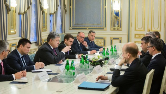 President Poroshenko held meeting with Germany's Foreign Minister Gabriel