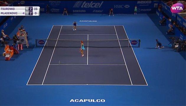 Леся Цуренко стала автором кращого удару дня на тенісному турнірі в Акапулько