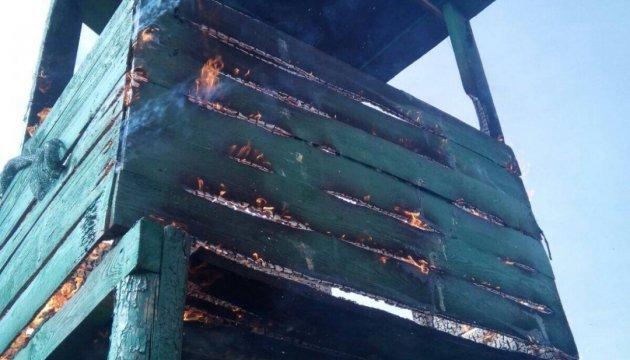 В Одесской области пограничникам подожгли наблюдательную башню