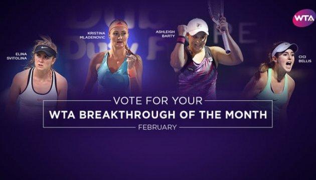 WTA может назвать Свитолину лучшей теннисисткой февраля