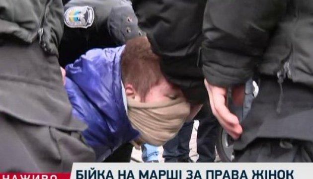 На киевском марше за права женщин произошли столкновения