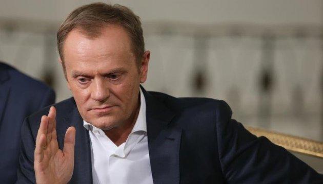 Польша может заблокировать итоговое заявление о переизбрании Туска - AFP