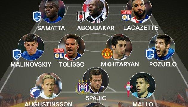 Малиновский попал в команду недели Лиги Европы УЕФА