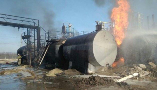У Харківській області на заводі палають цистерни з мазутом