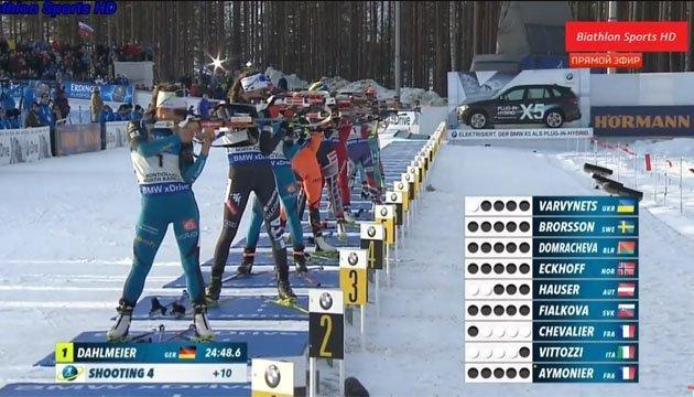 Украинская биатлонистка Ирина Варвинец показала блестящий результат в стрельбе