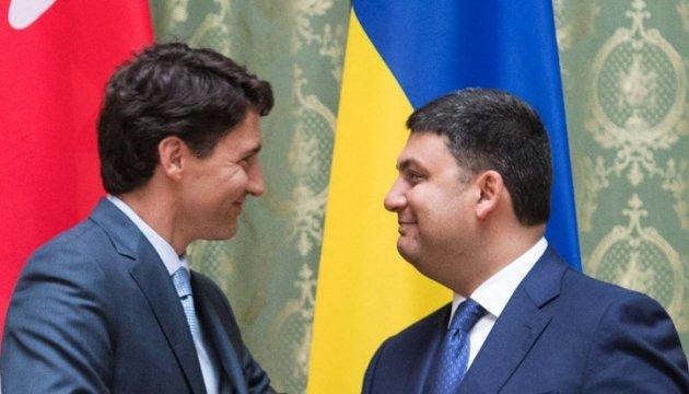 Hroїsman et Trudeau se rencontreront au Canada pour discuter du libre-échange