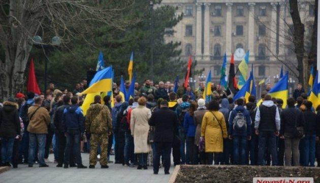 У Миколаєві пройшов перший марш добровольців