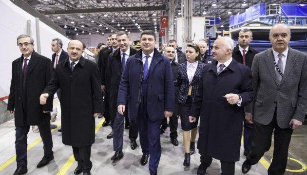 Гройсман в Анкарі обговорив створення космічного ракетного комплексу