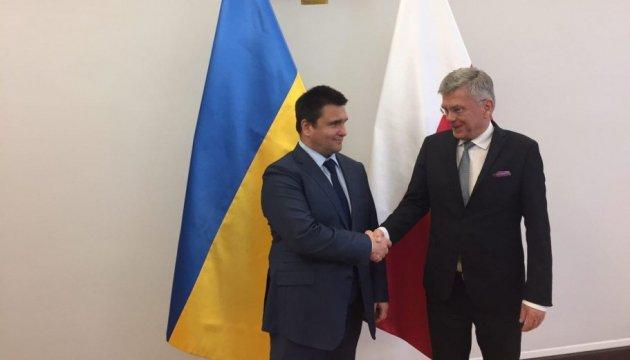Клімкін і голова Сенату Польщі обговорили зміцнення стратегічного партнерства