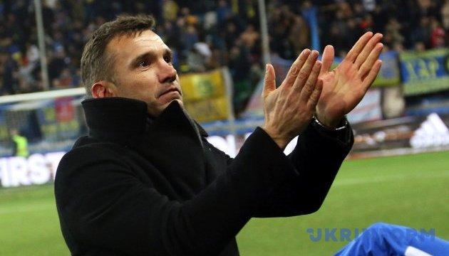 Шевченко назвав розширений склад збірної України з футболу