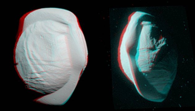 NASA показало тривимірне зображення Пана