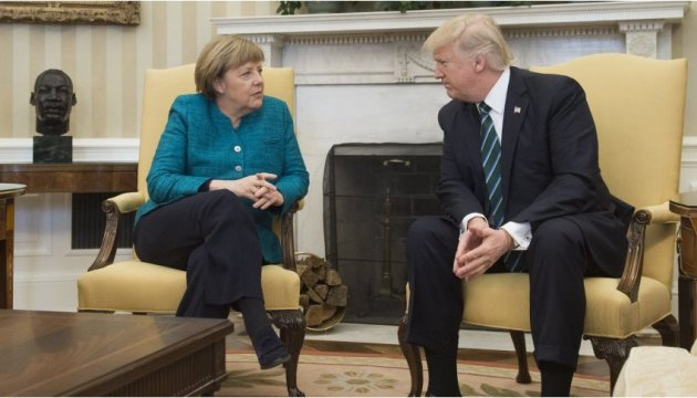 Trump, Merkel by phone discuss several issues, including conflict in eastern Ukraine