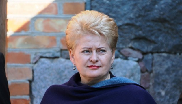 Grybauskaite on Crimea: Freedom may be occupied but can never be taken away