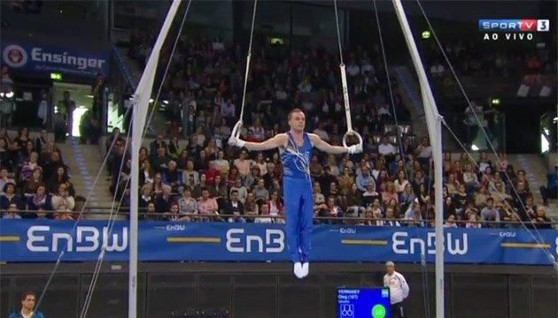 Виступ переможця етапу у Штутгарті гімнаста Верняєва