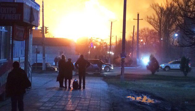 Explosions at ammunition depots in Kharkiv region (video)