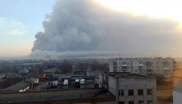 Пожежники досі не можуть дістатися до епіцентру загоряння у Балаклії
