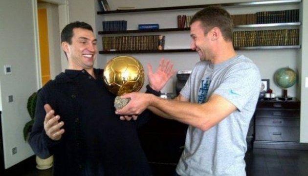 Владимир Кличко поддержал сборную Украины накануне матча в Хорватии
