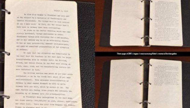 Дневник молодого Кеннеди с заметками о Гитлере выставили на аукцион