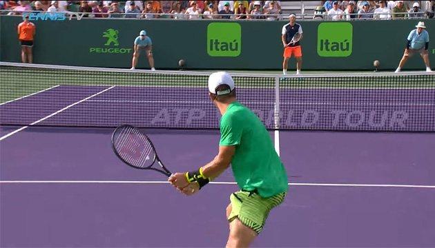 Маямі (ATP): кращий розіграш дня довжиною в 36 ударів