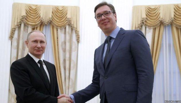 Путін перед виборами у Сербії зустрівся з прем'єром Вучичем –