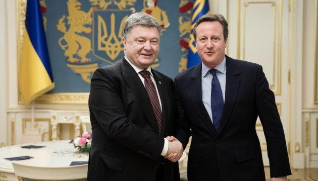 Порошенко подякував Кемерону за підтримку України