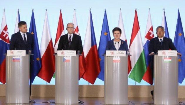 Вишеградська група не погодиться на примусовий розподіл біженців між країнами ЄС