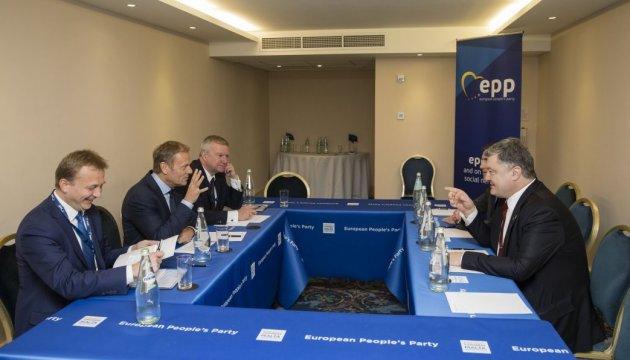 Порошенко й Туск обговорили підготовку до Саміту Україна-ЄС