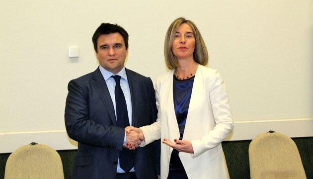 Клімкін обговорив з Могеріні загострення на Донбасі
