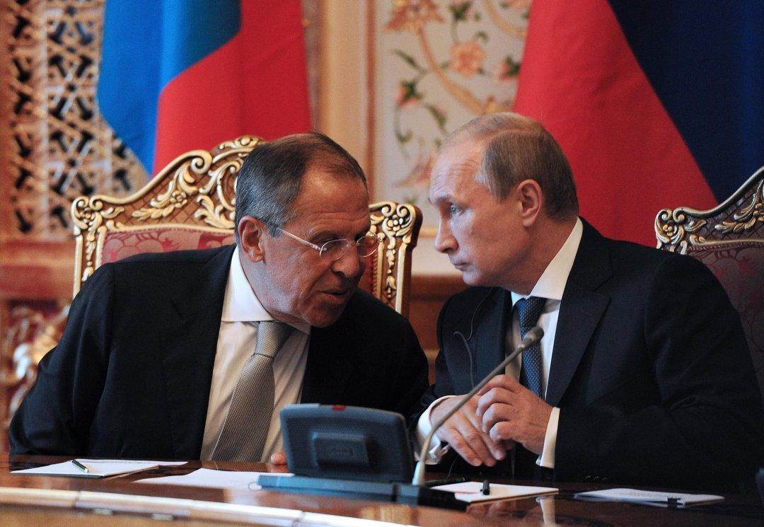 Сергій Лавров і Володимир Путін