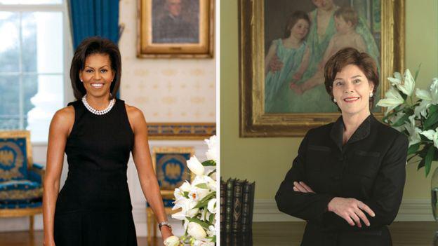 Мішель Обама, Лаура Буш
