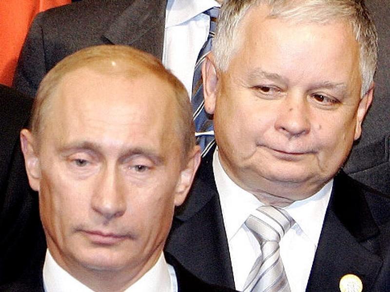 Володимир Путін і Лех Качинський. Фото: Mori /AP