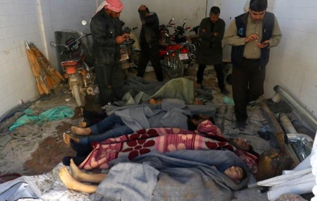 Страшні наслідки газової атаки в Сирії
