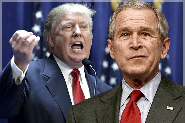 Джордж Буш (молодший) і Дональд Трамп