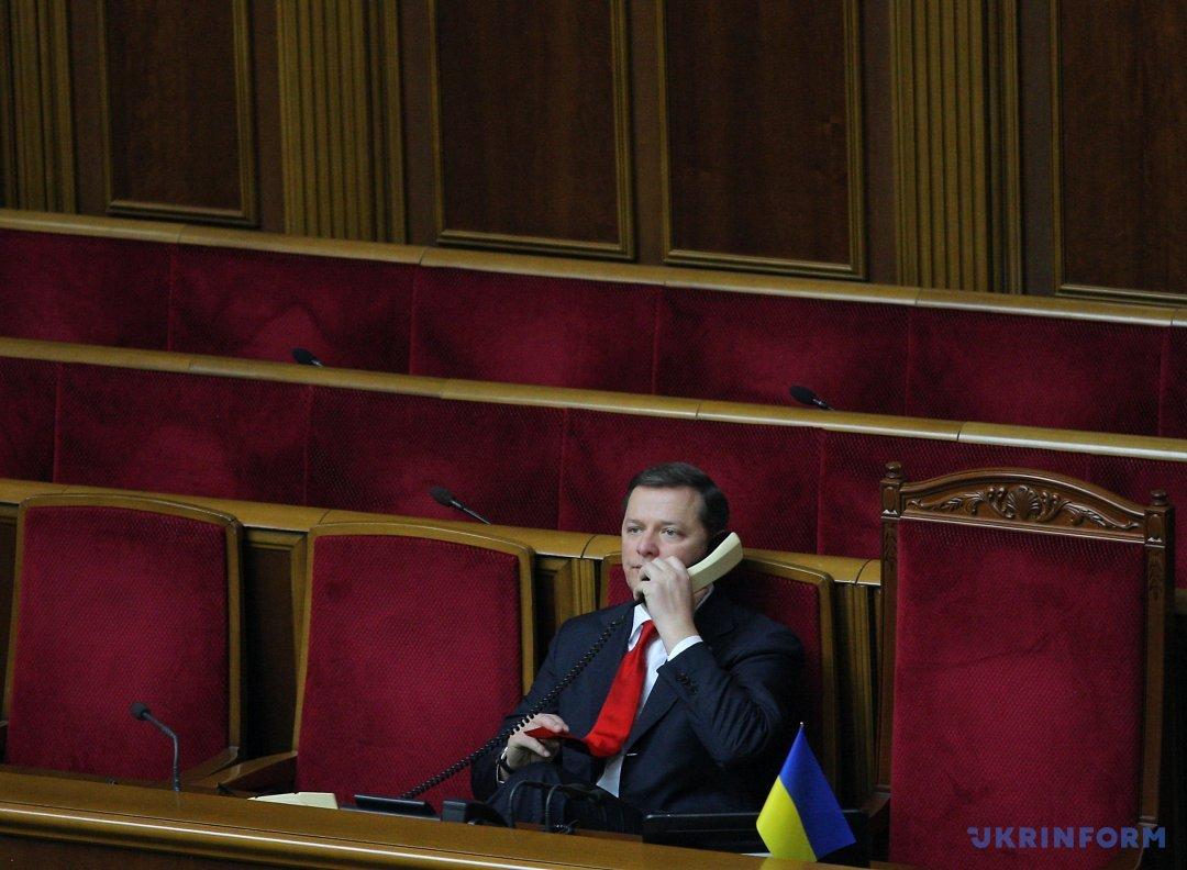 Народний депутат України Олег Ляшко під час засідання парламенту, Київ, 11 квітня 2017 року. Фото: Данііл Шамкін