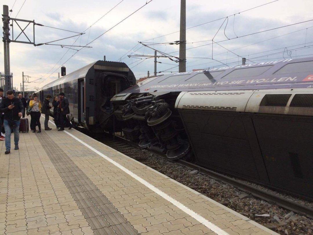 ВВене два поезда столкнулись прямо навокзале