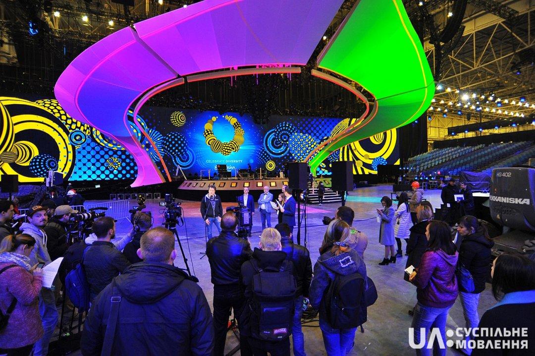 Главная сцена Евровидения-2017 почти готова, завтра начнутся репетиции (фото)