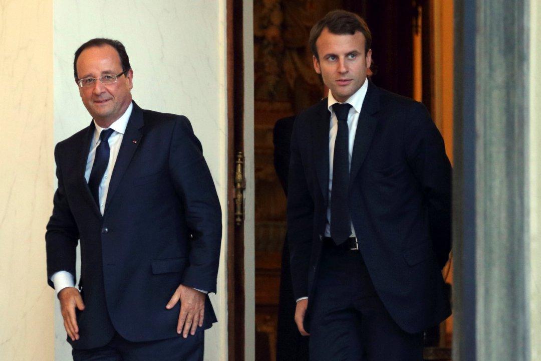 Франсуа Олланд і Емануель Макрон