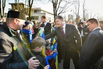 Порошенко встретился в Риге с украинской диаспорой