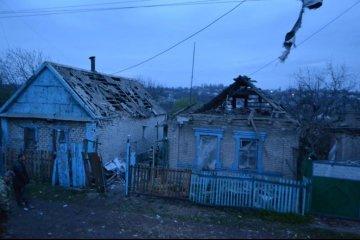Les bombardements ont endommagé une maison privée à Avdiivka