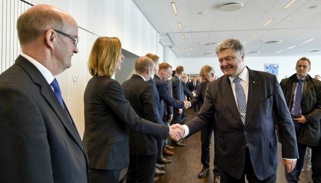 Президент зустрівся з данськими бізнесменами й українською громадою