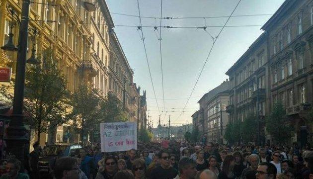 У Будапешті десятки тисяч людей протестували проти закриття університету Сороса